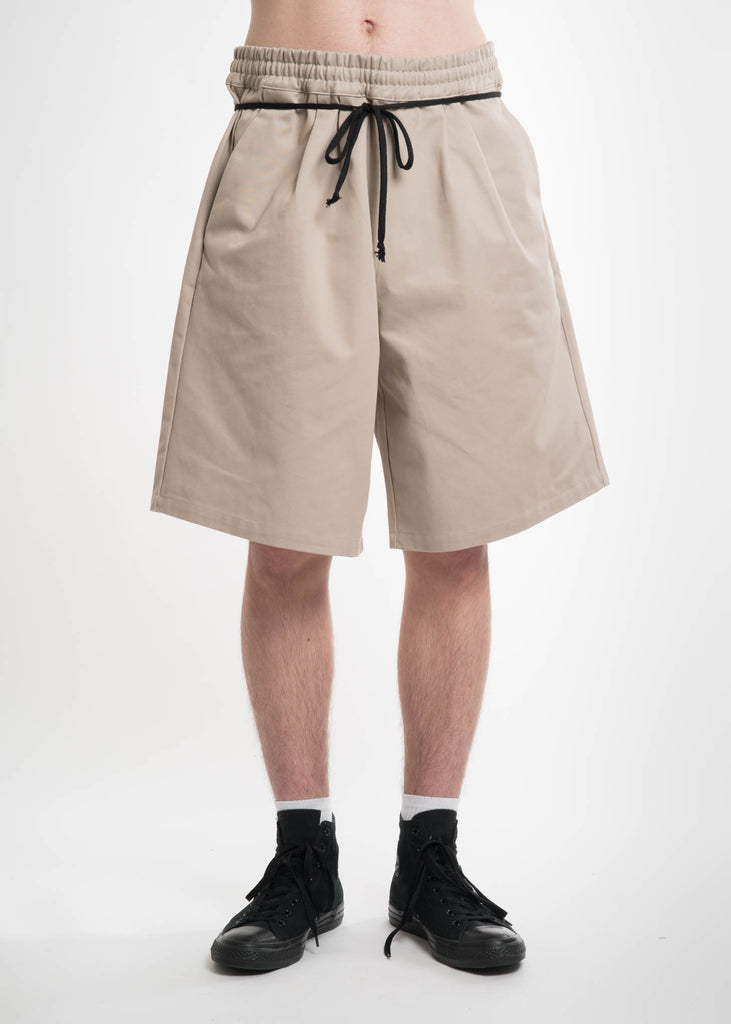 Komakino, Beige Elasticated I/O Shorts, 017 Shop