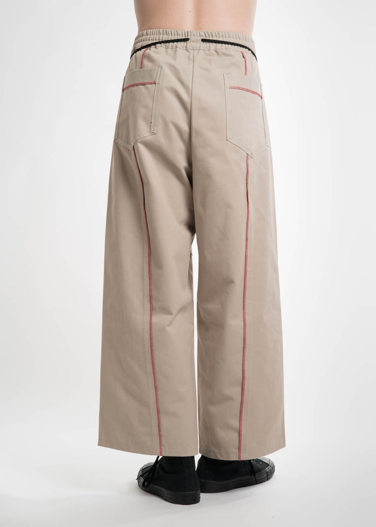 Beige Elasticated I/O Trousers
