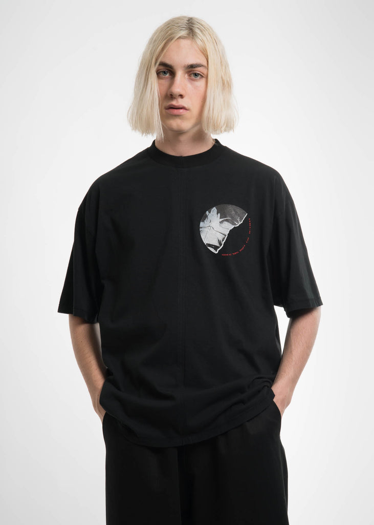 Black Cuts T-Shirt w/ Print 3 Back