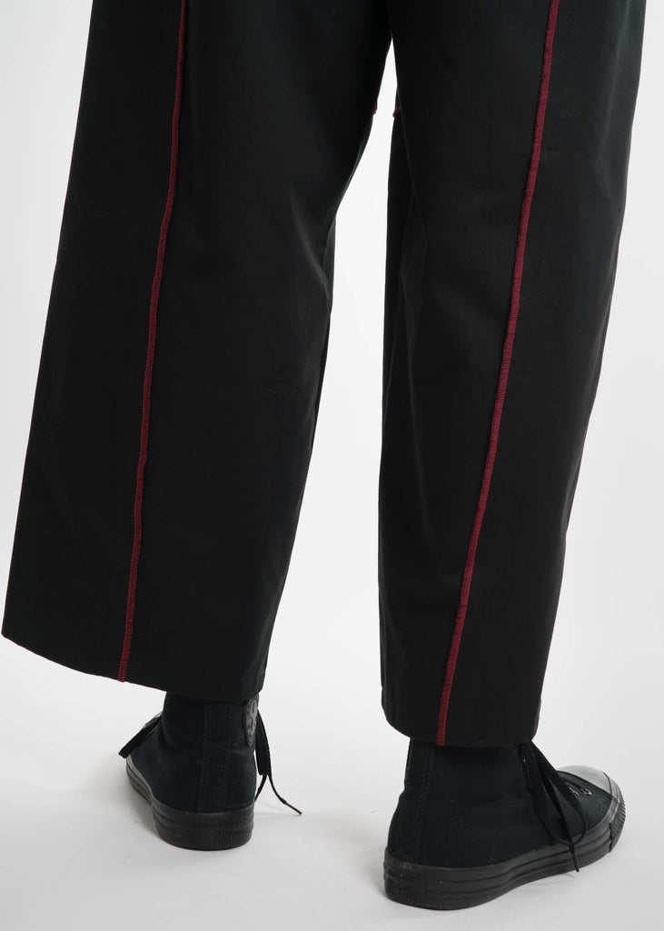 Black Elasticated I/O Trousers