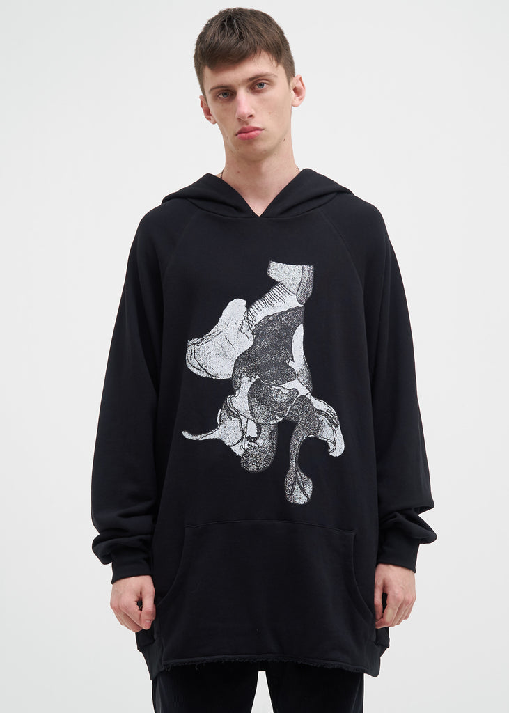 Black Oversized Johnstone Fly Hoodie