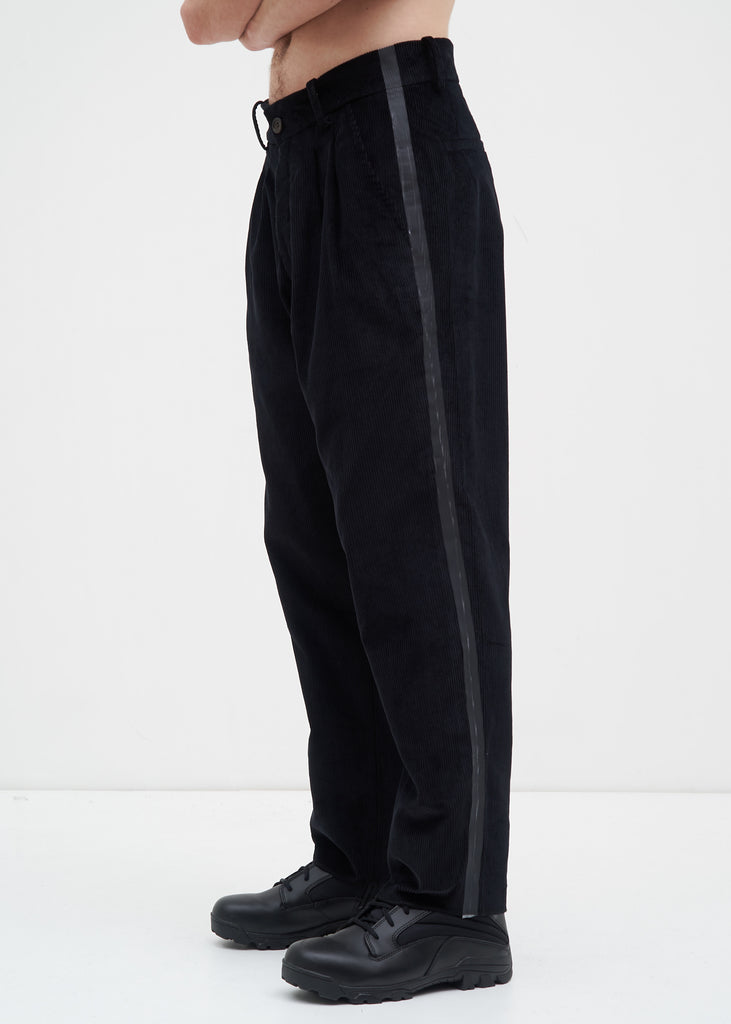Komakino, Black Tape Tailored Trousers, 017 Shop