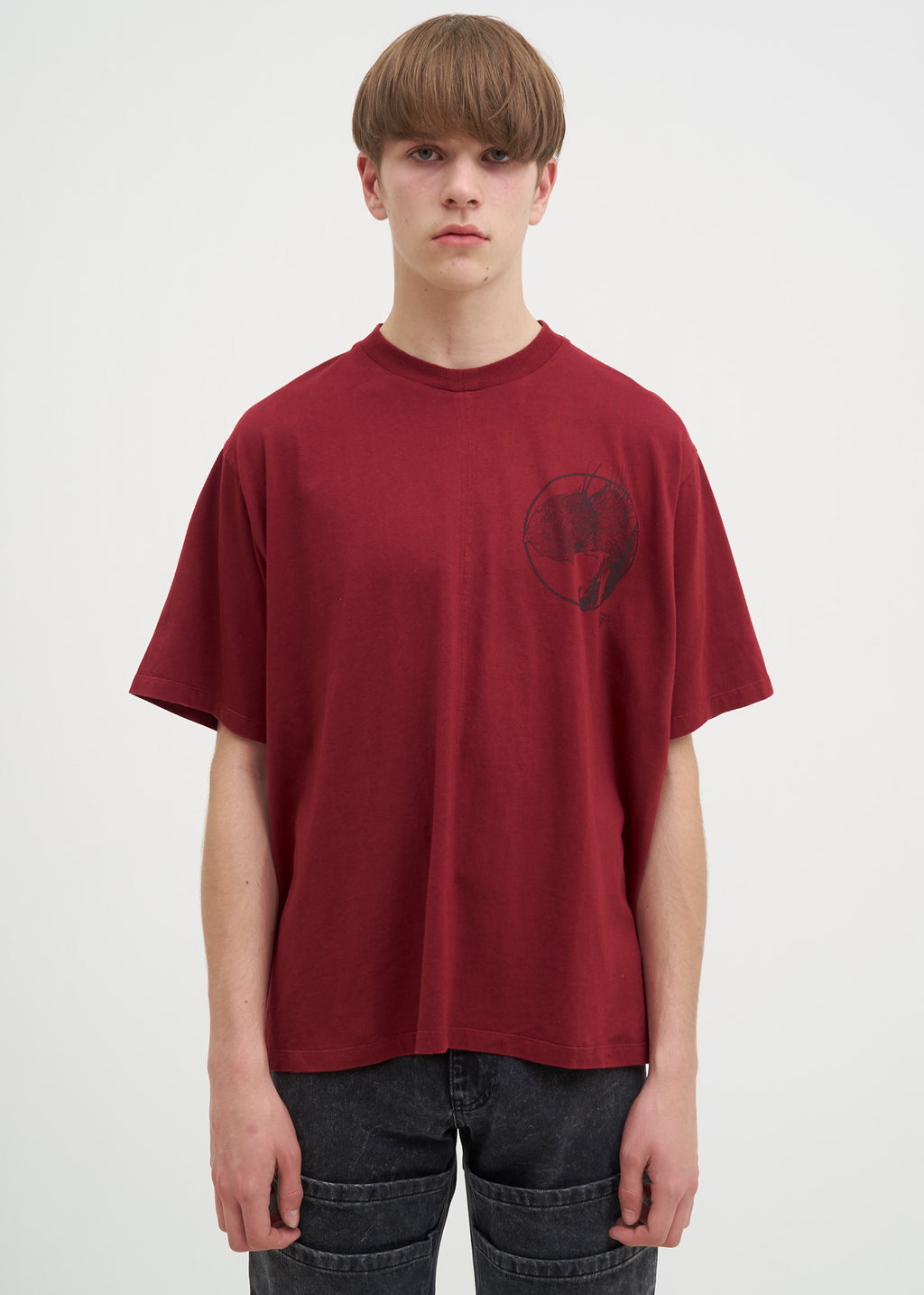 Burgundy Necrophagous T-Shirt