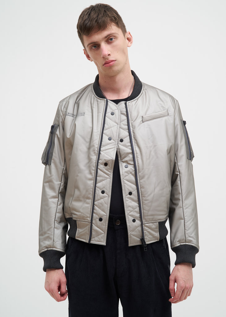 Komakino, Transparent Quilted MA-1 Jacket, 017 Shop