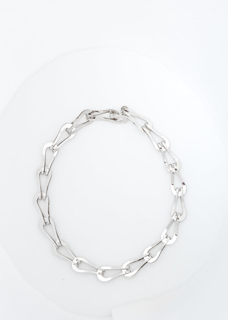Silver Chunky Chain-Link Necklace