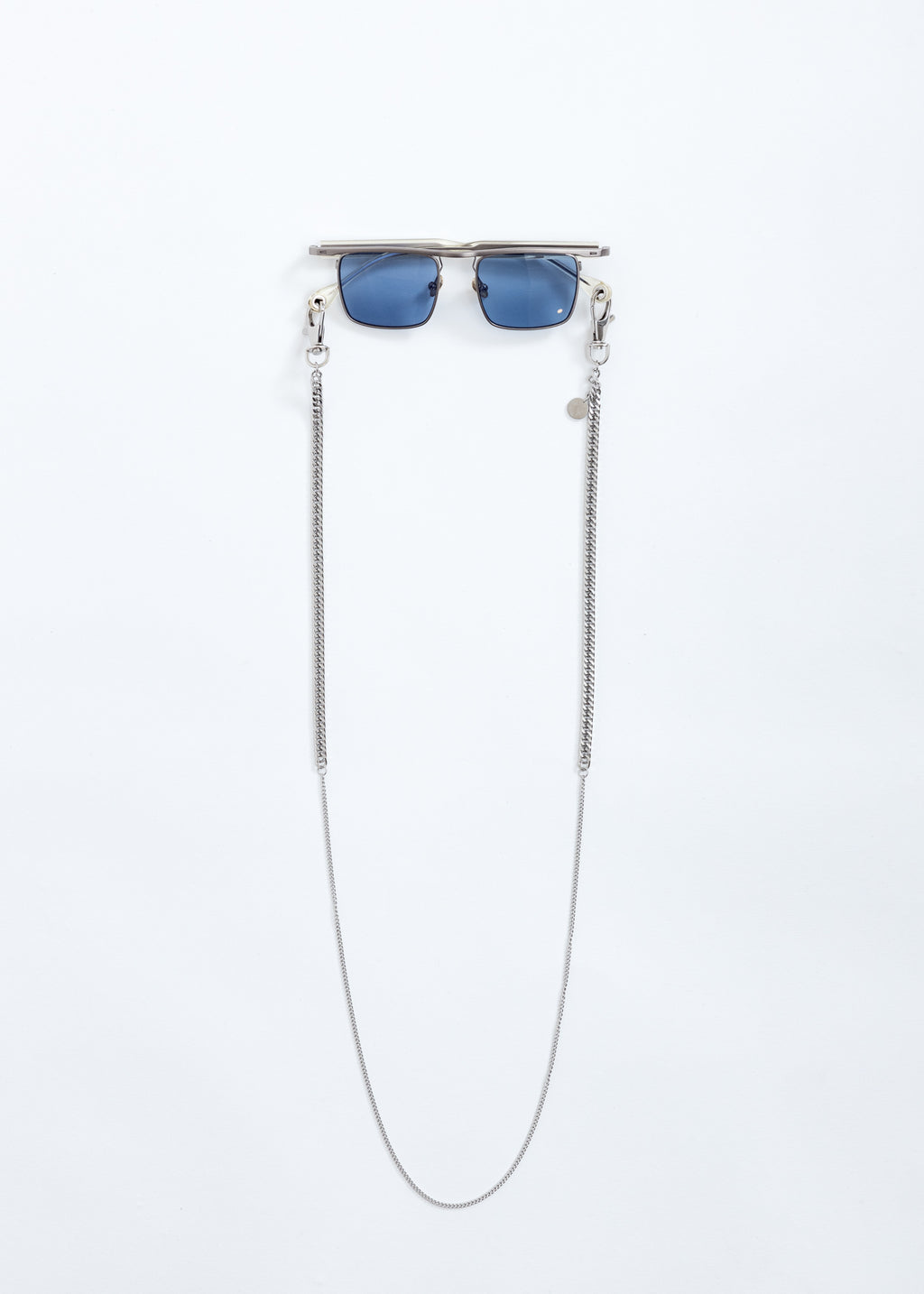 Silver Karma Sunglasses With Chain