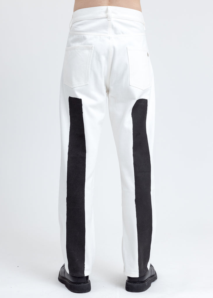 White Conner Denim Pants
