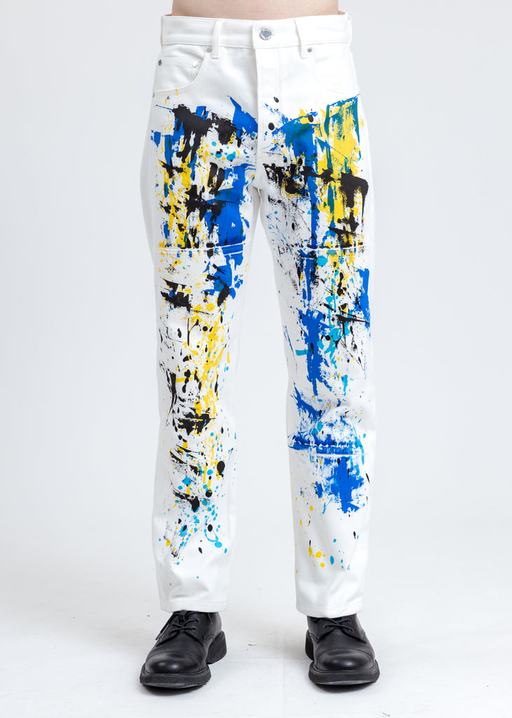 White Keith Haring Denim Pants