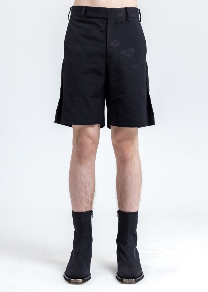 Black Side Slit Short