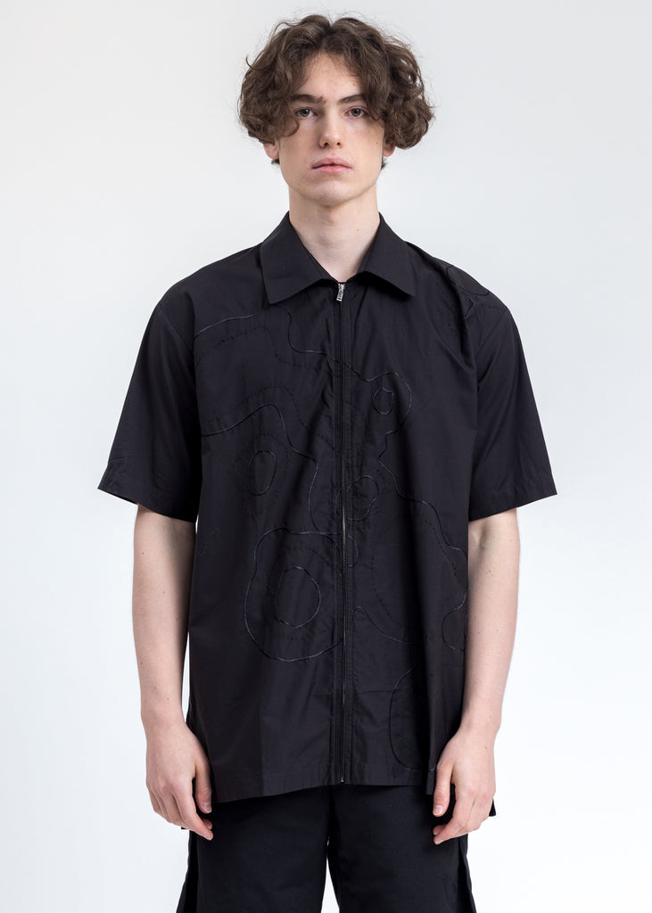 Black Clouds Zip  Shirt