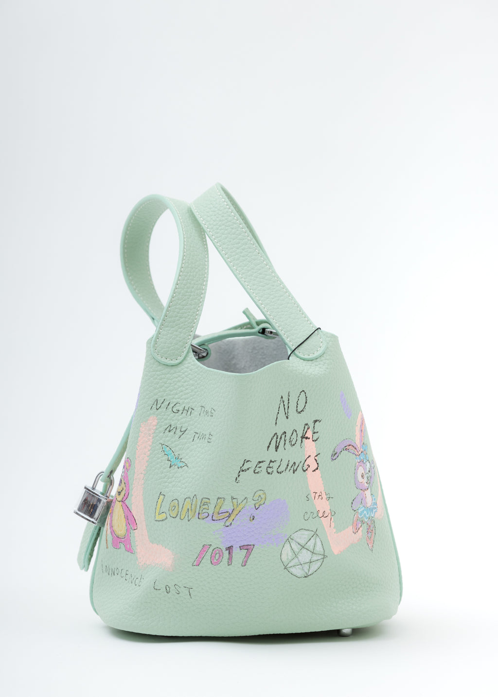 Green Paint Cube Bag (Small)