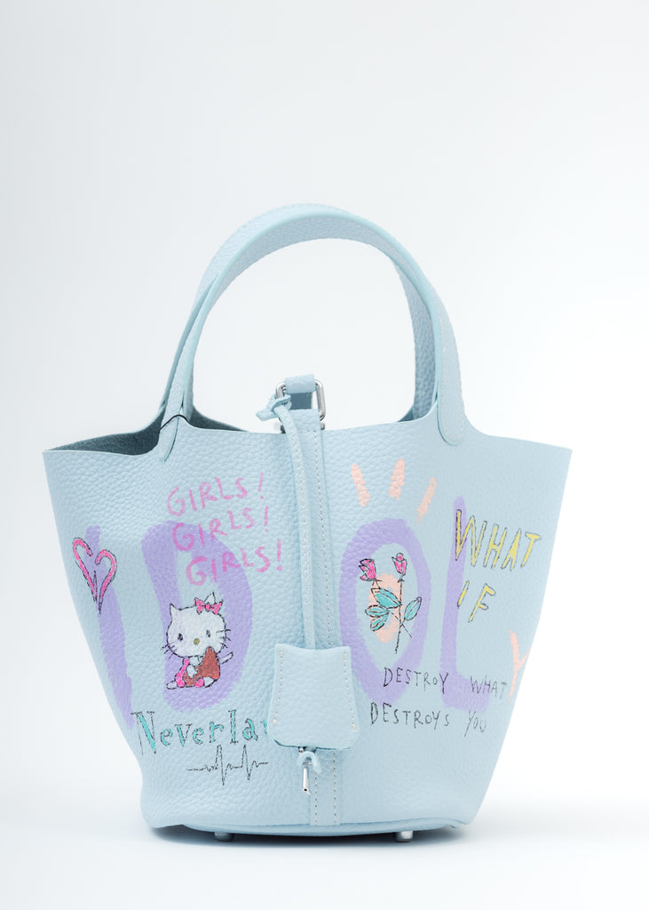 Light Blue Paint Cube Bag (Small)