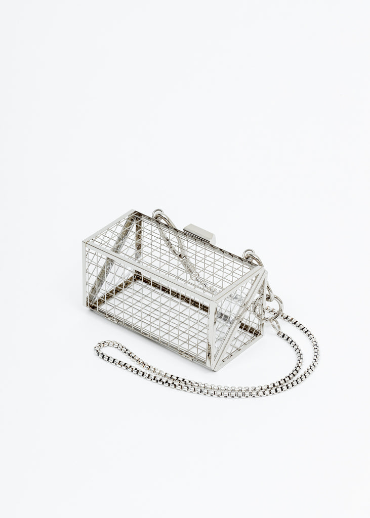 Silver Cross Body Bijoux Bag