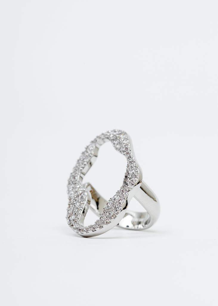 White Gold Cell Division Ring