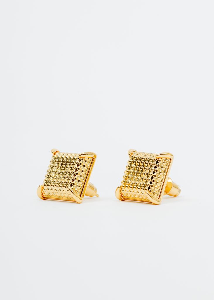 Gold Square Earring