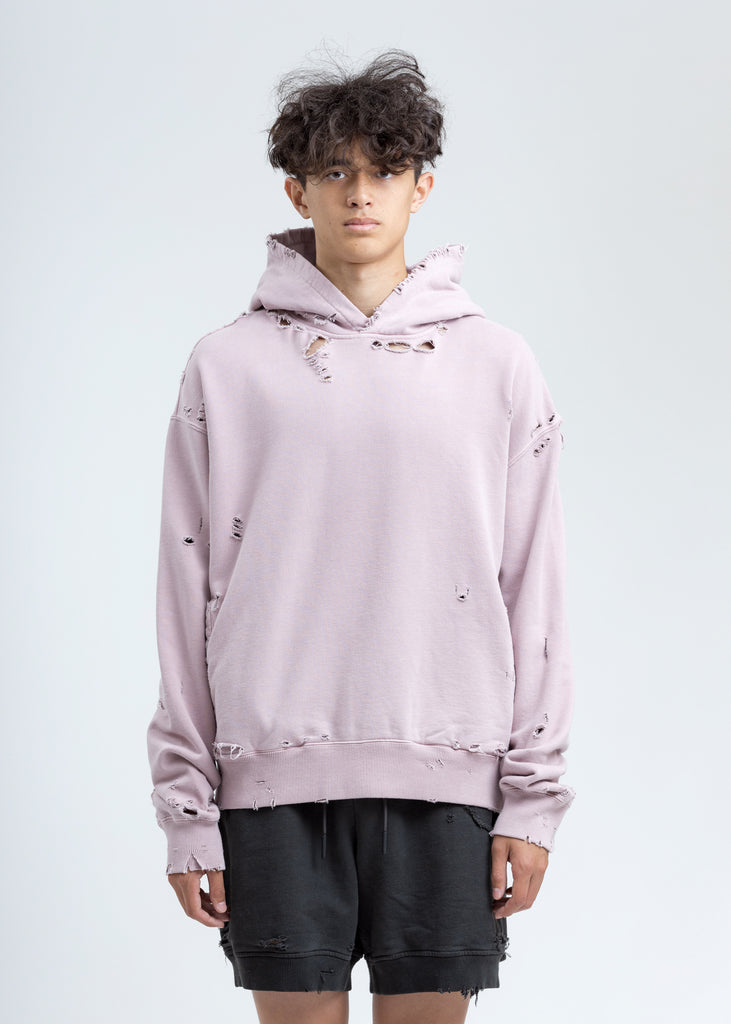 Pink Agitator Distressed Hoodie