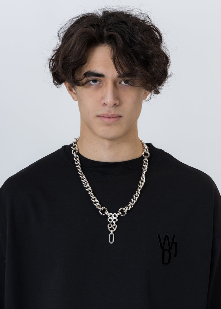 Silver Damon Drop Chain