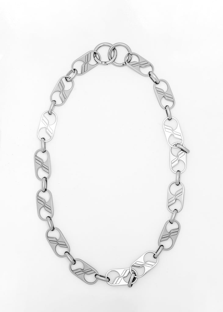 Silver We11done Logo Chain