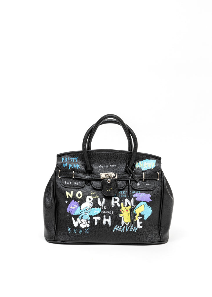 Black Paint Anarchy Bag - Pokemon, Smurfs