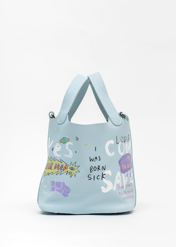 Light Blue Paint Cube Bag (Small) - Pokemon, Smurfs