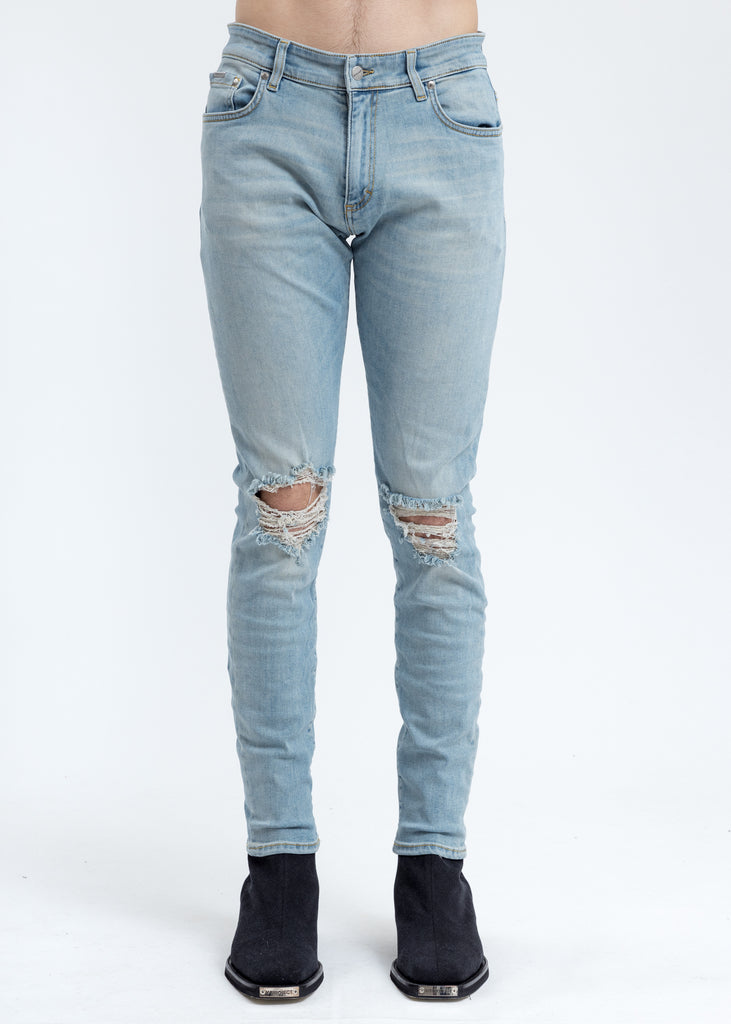 Light Blue Destroyer Denim Jeans