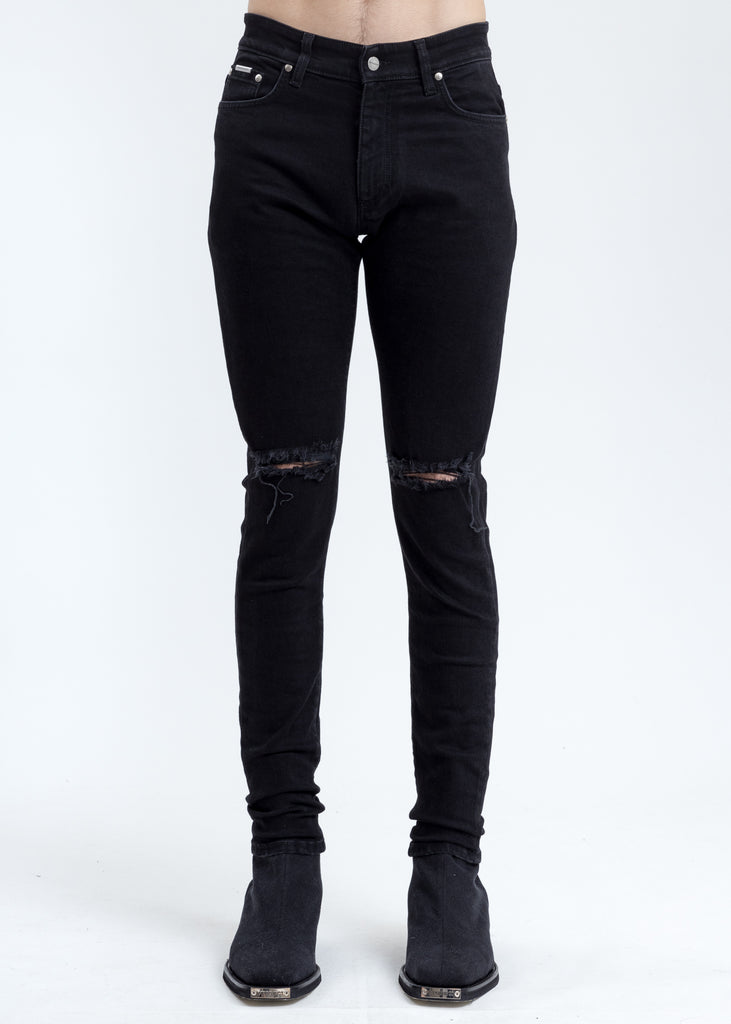 Black Destroyer Denim Jeans