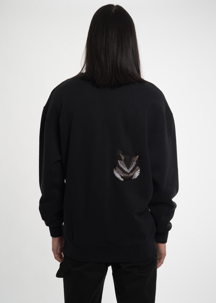 Black Double Fox Sweatshirt