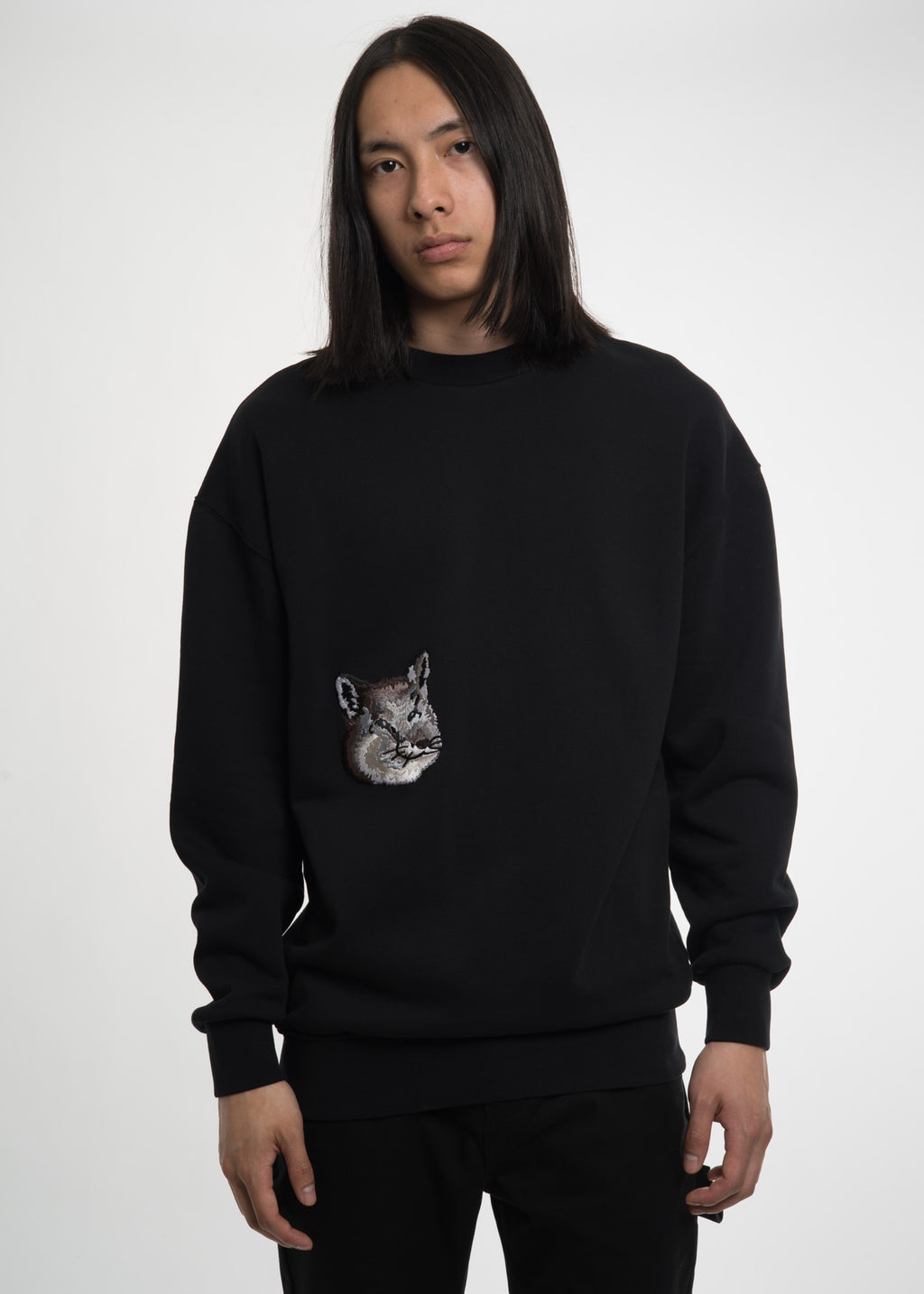 Maison Kitsune, Black Double Fox Sweatshirt, 017 Shop