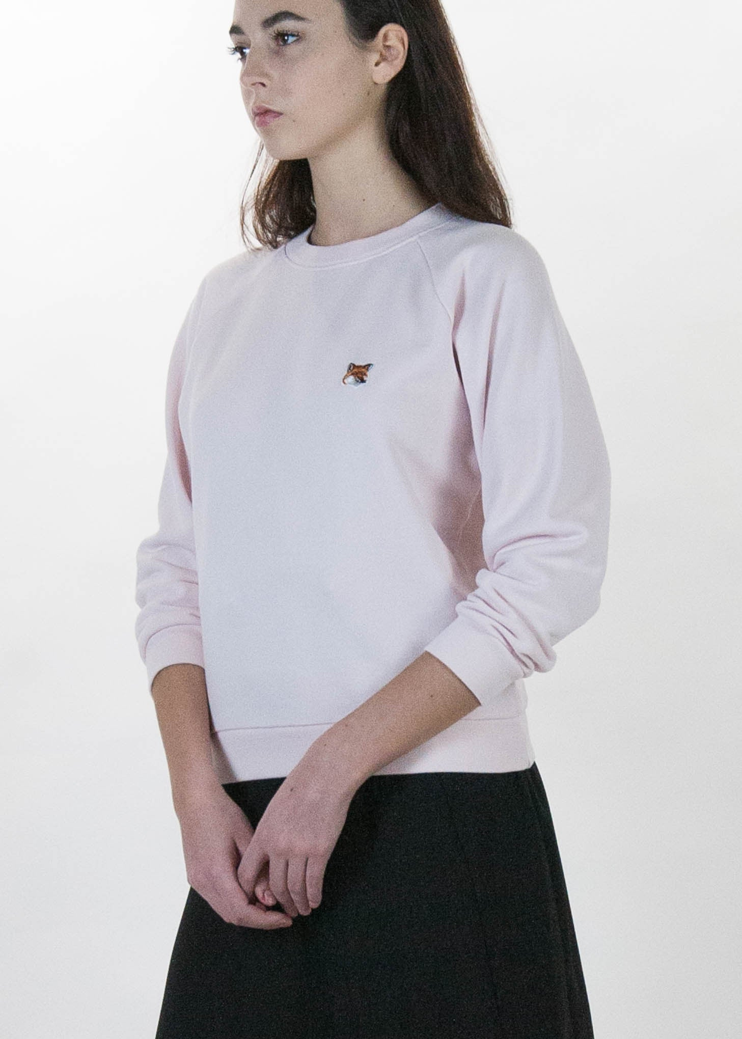 Pink Fox Head Patch Sweatshirt