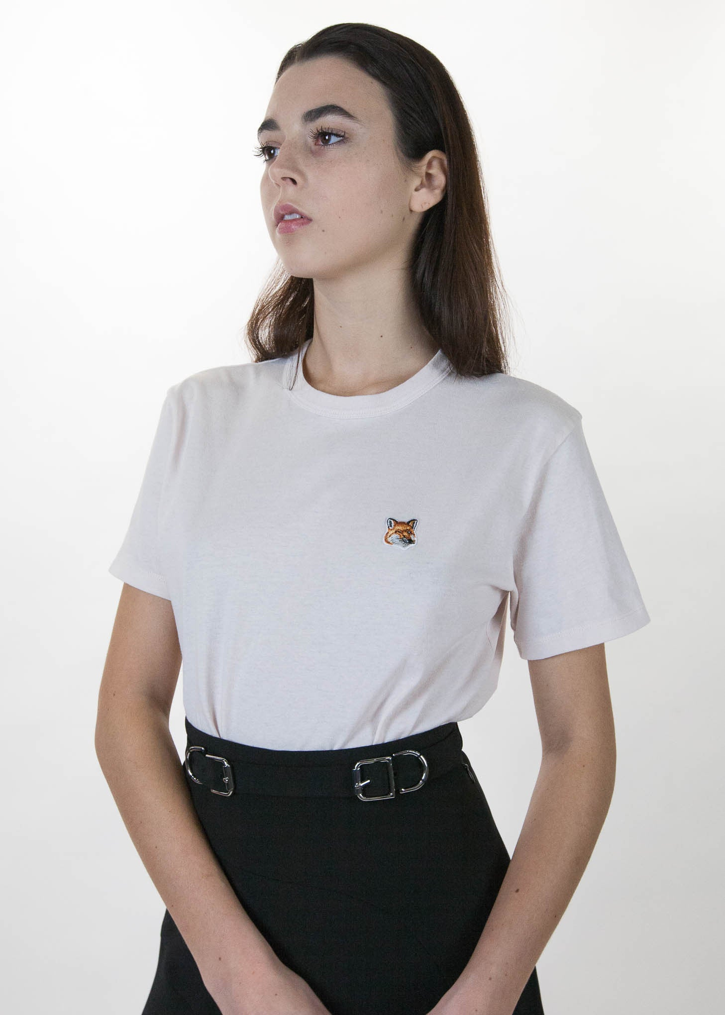 Pink Fox Head Patch T-Shirt