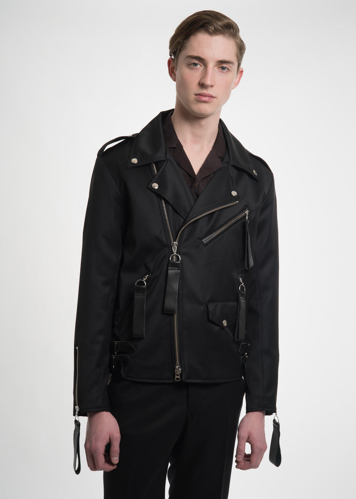 Black Tyler Biker Jacket