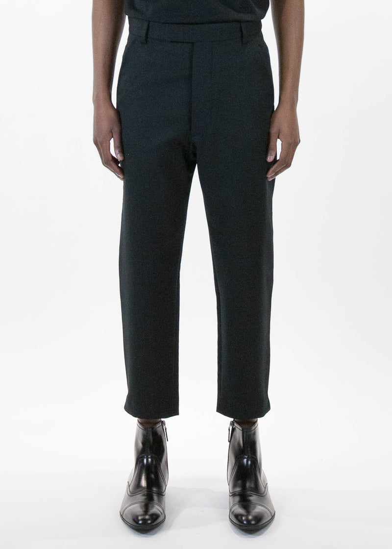 Black Wool Marlboro Trouser