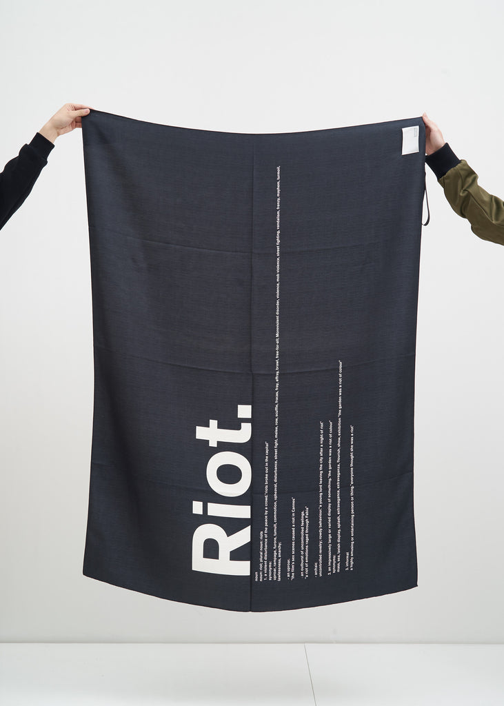 Black and White Riot Scarf
