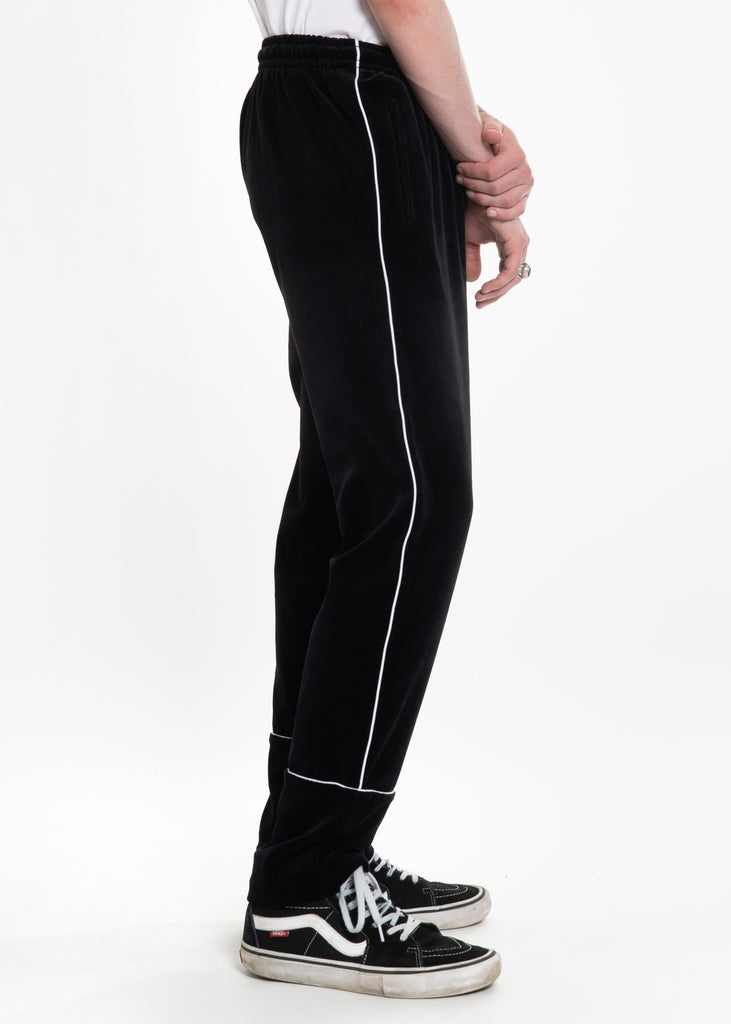 Neige, Black Velour Sweatpants, 017 Shop