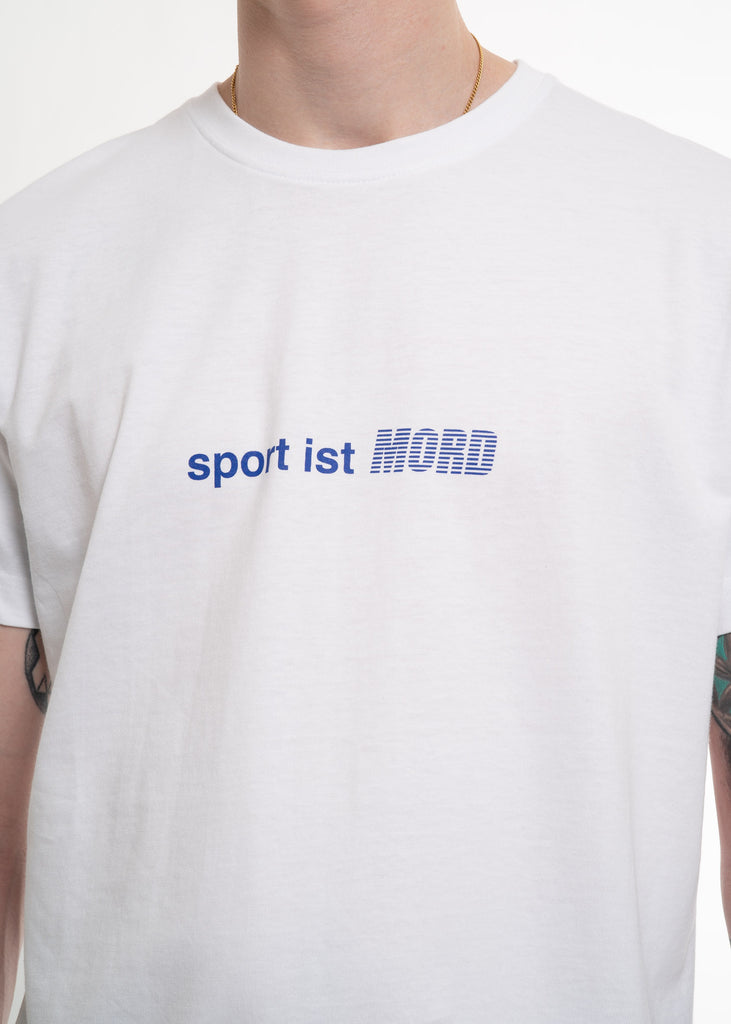 Neige, White Sport Ist Mord T-Shirt, 017 Shop