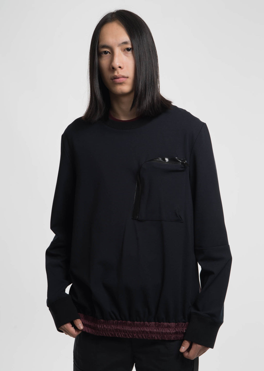 Public School, Black Cassady Crew w/ Bungee Detail, 017 Shop