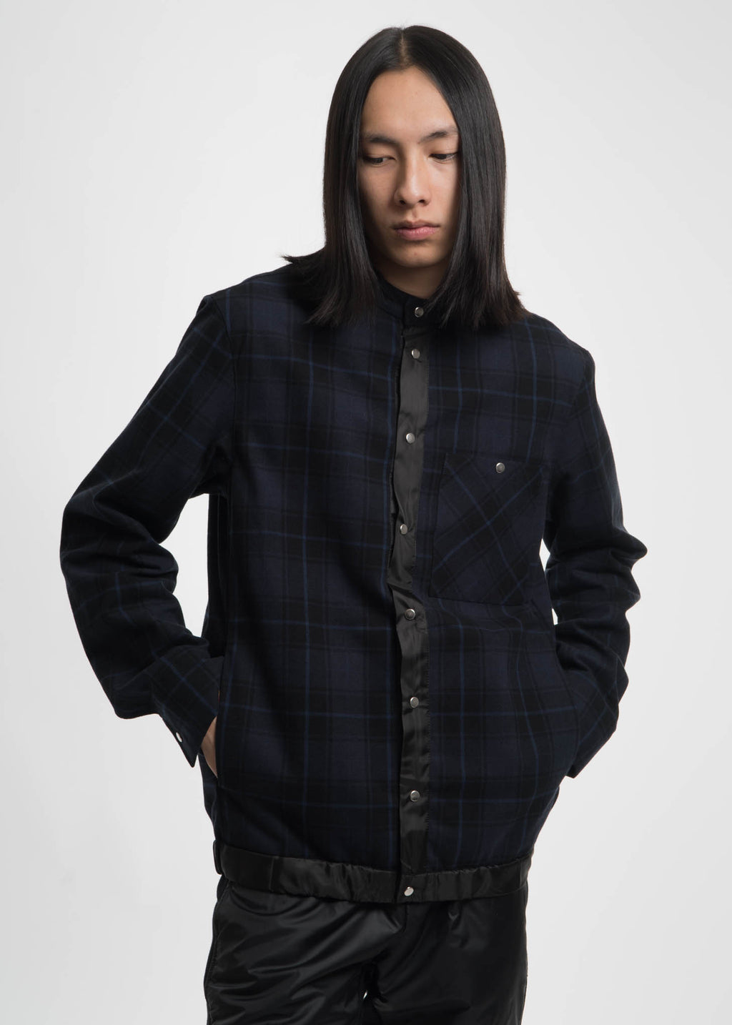 Navy Ouray Plaid Shirt Jacket