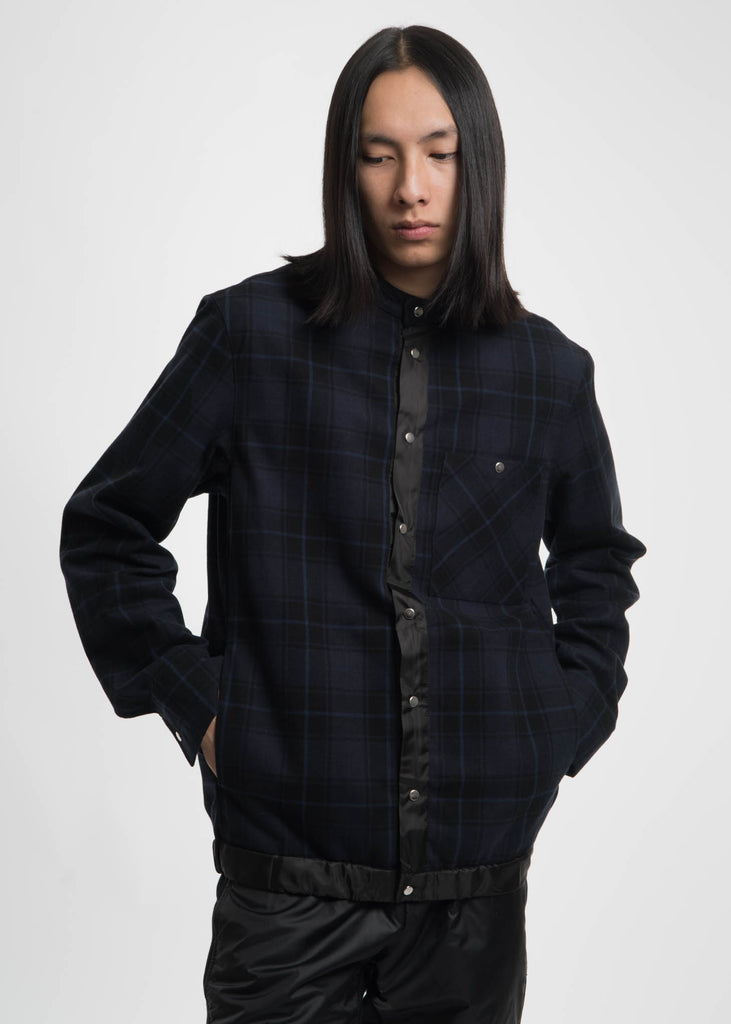 Public School, Navy Ouray Plaid Shirt Jacket, 017 Shop