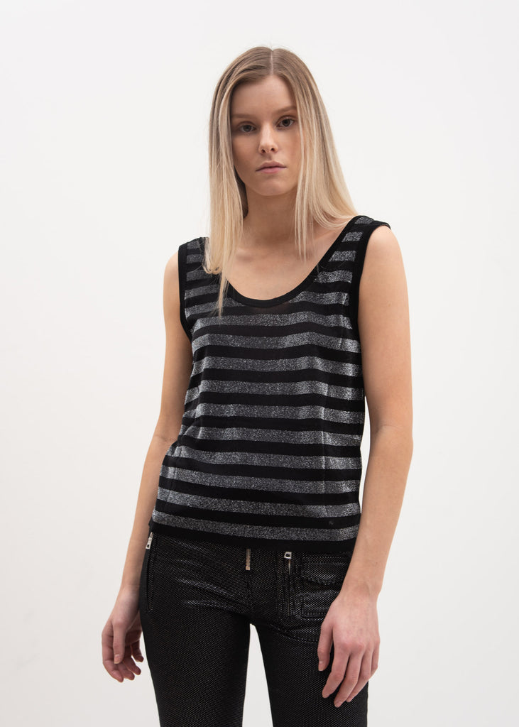 RtA, Striped Silver Colton Tank Top, 017 Shop