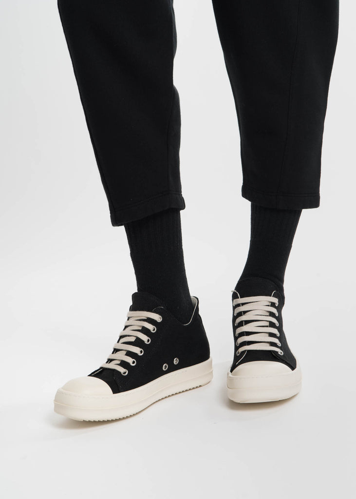 Black Canvas Cap Toe Sneaker