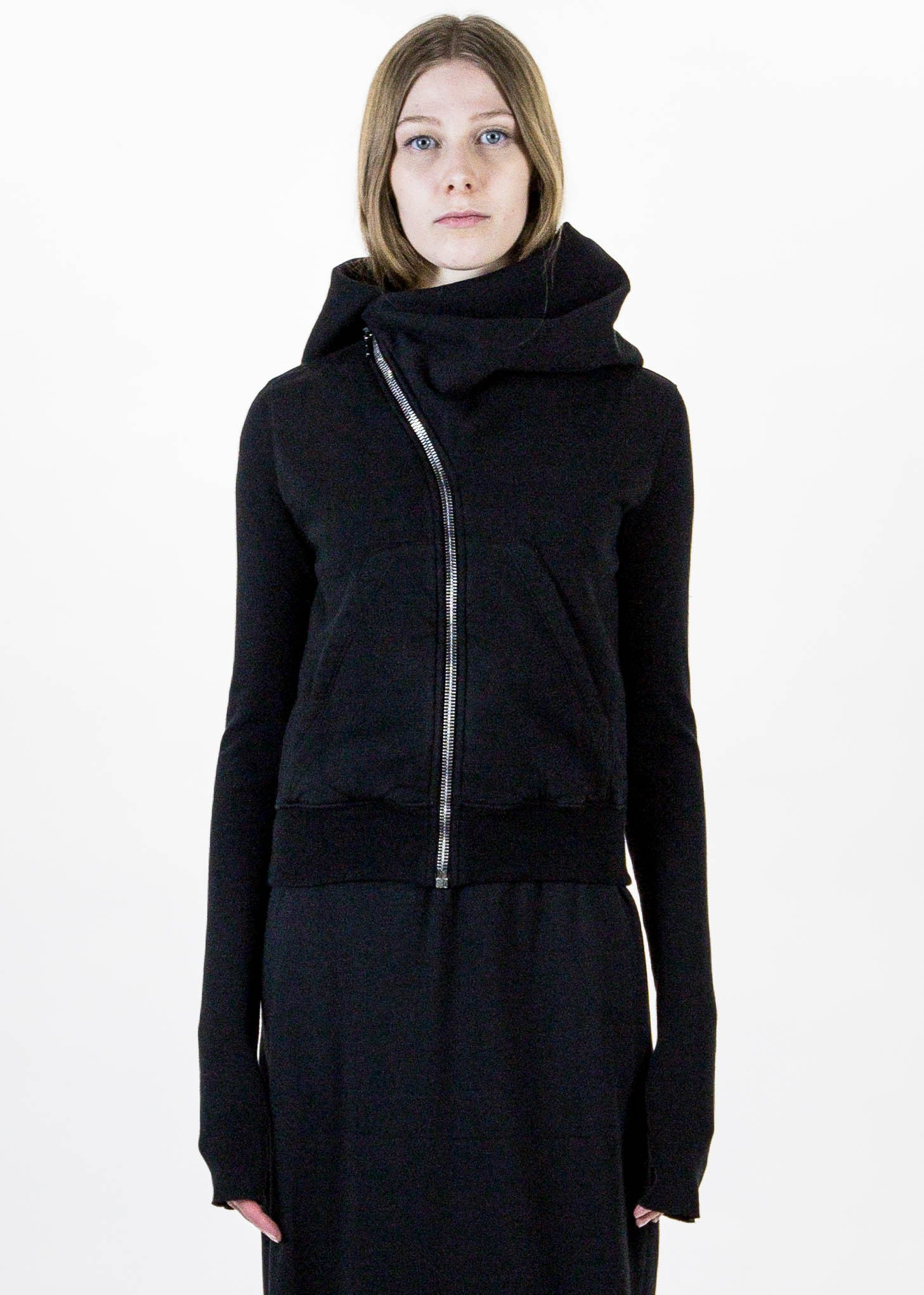 Black Short Mountain Hoodie