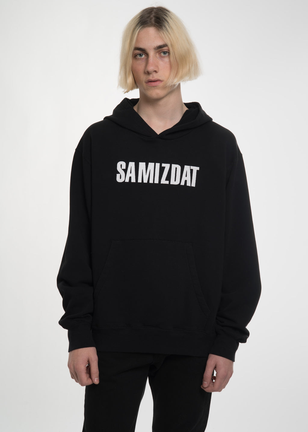 Black Another Message Hoodie