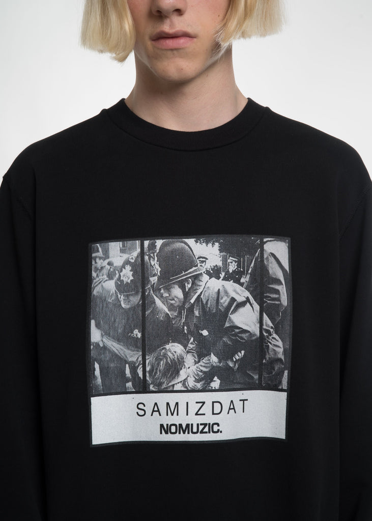 Black No Muzik Sweatshirt