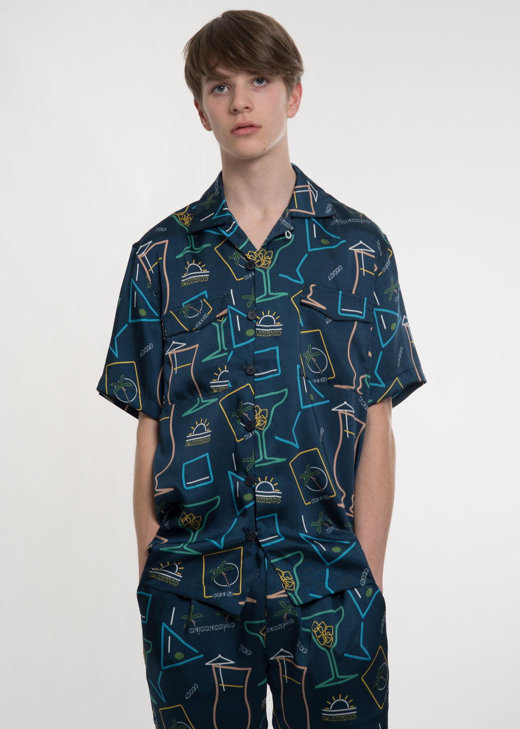 Blue Cocktail Hawaiian Shirt