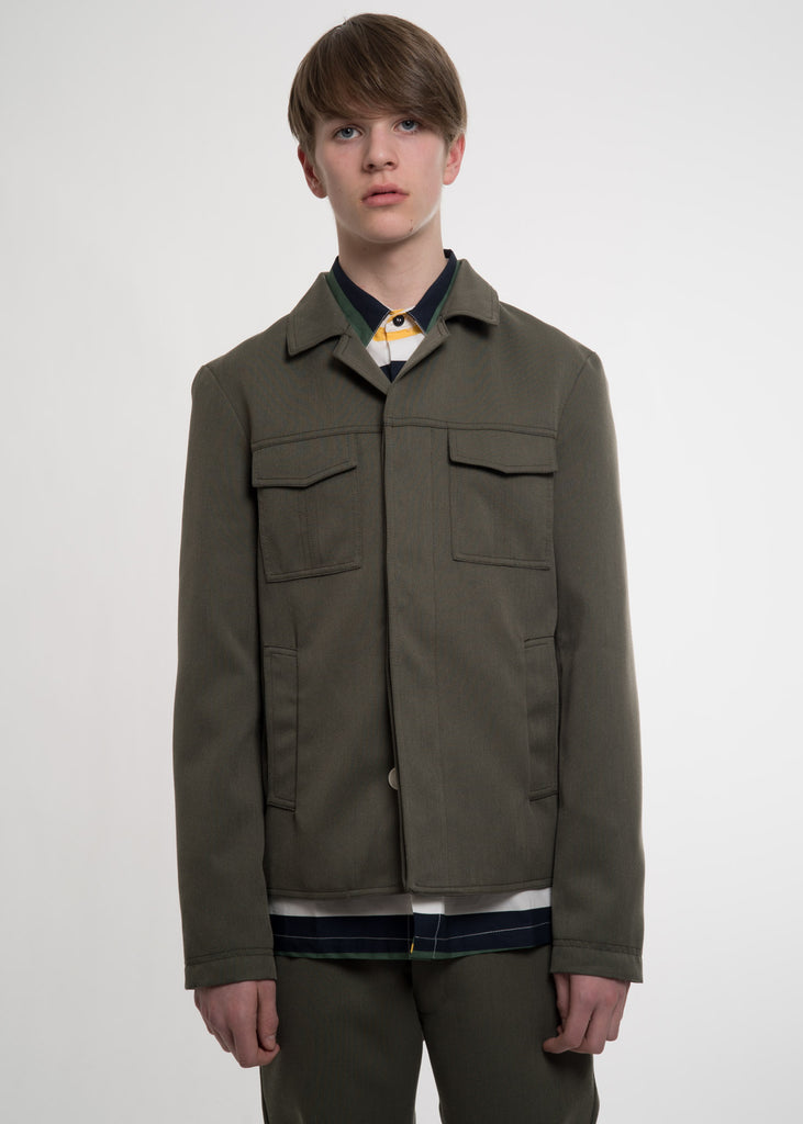 Green Military Blazer Jacket