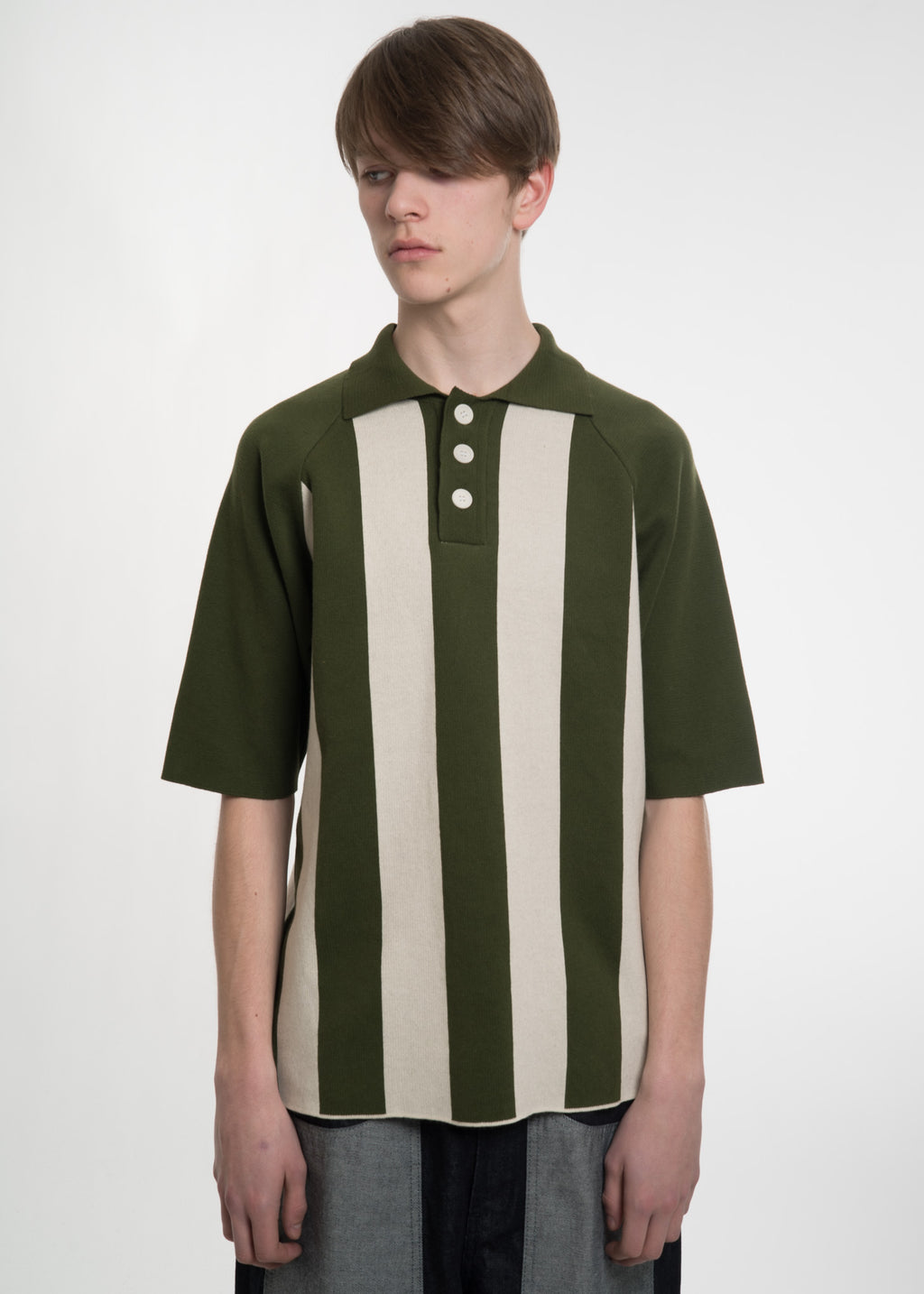 Green and White Polo