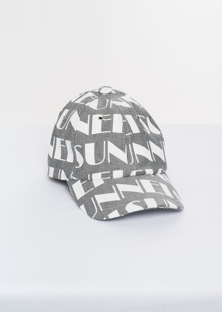 Grey All Over Print Elastic Band Baseball Cap