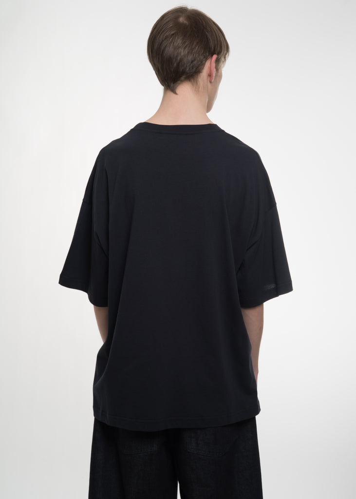 Navy Oversized Tally T-Shirt