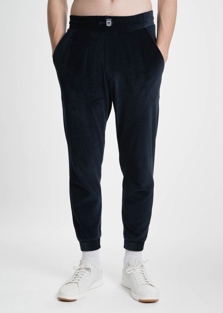 Navy Velour Jogging Pants