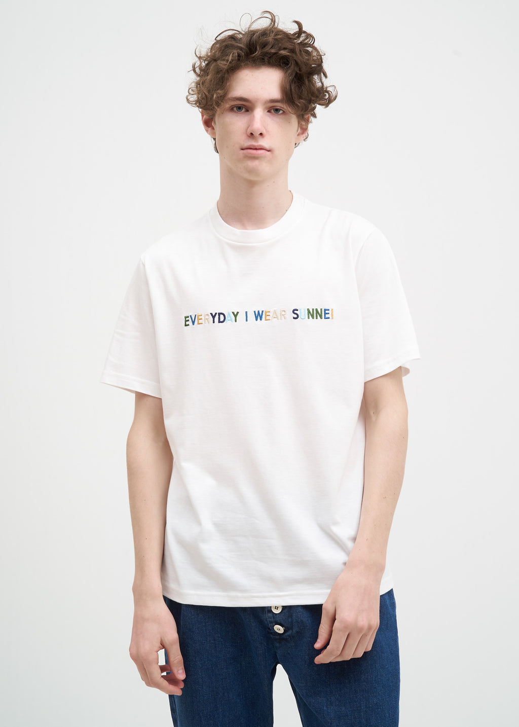 White Everyday I Wear Sunnei T-Shirt